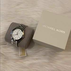 New Michael Kors Silver Stainless Steel Watch